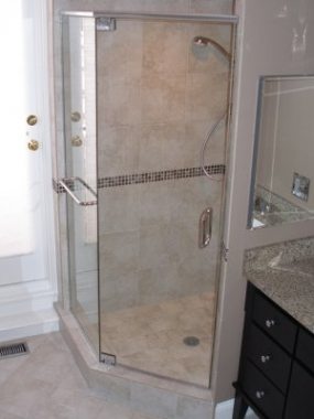 shower stall after